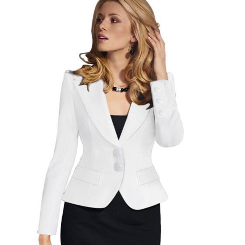 Blazer Kadın Mavi Kadın Ofis Bayanlar Yeni Bahar Ince Üst Zarif Kısa Tasarım Giysileri Iki Toka Suit Kadın Coat 4XL