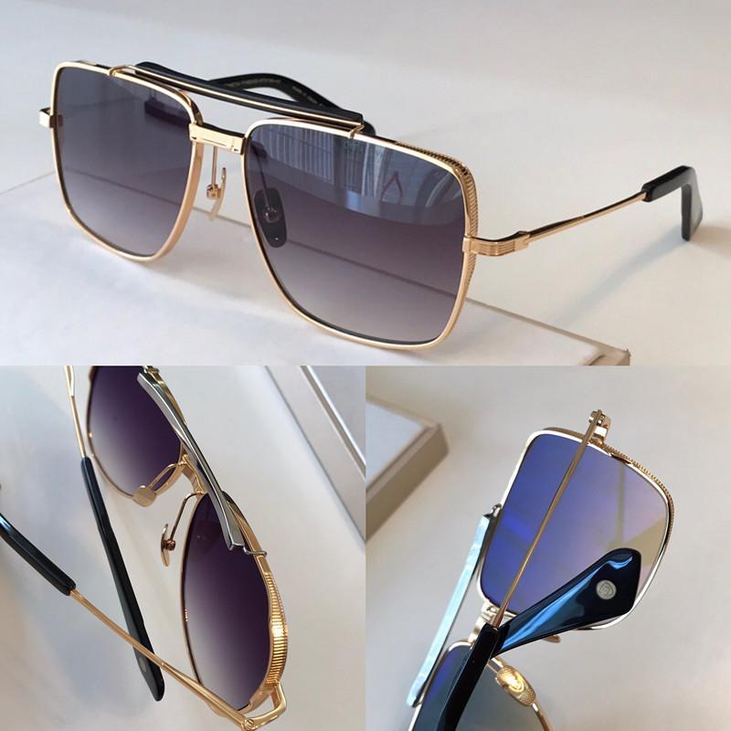 Nuevas gafas de sol populares de Simeta Type403 Men Style K Gold Retro Cuadrado Marco de Moda Avant-Garde Calidad Top UV 400 Lente Eyewear con caja