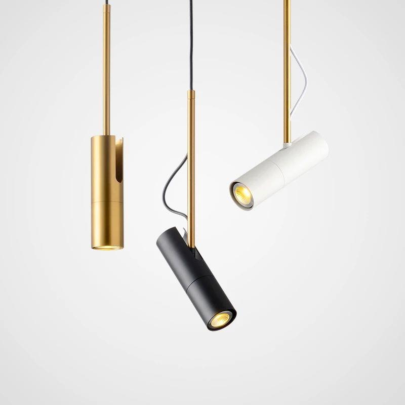 Silindir LED Kolye Işıkları Uzun Tüp Lambaları Mutfak Yemek Odası Mağazası Bar Dekorasyon Kordon Kolye Lamba Arkaplan Işıkları GU10