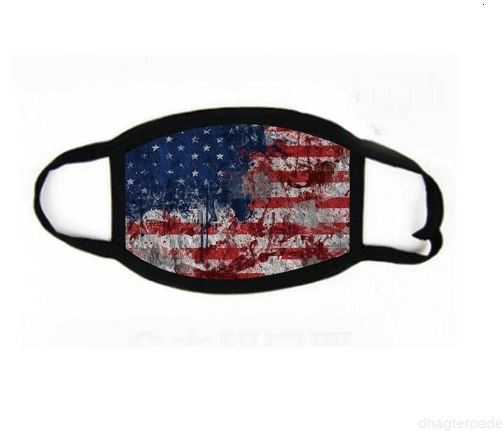 Baskı Seçim 2020 Trump Sıcak Malzemeleri Toz Geçirmez Yüz Maskeleri Erkekler Ve Kadınlar Için Evrensel Amerikan Bayrağı Maskesi Ücretsiz Kargo