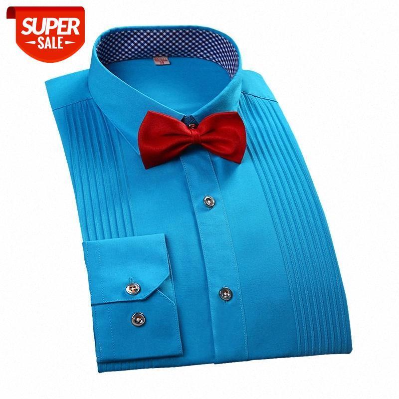 Brandneue Männer Dreidimensionale Hemden verheiratet Bräutigam Shirt Slim Fit Groomsman Langarm Mann Kleid Tuxedo Hemden Freies Verschiffen # UH81