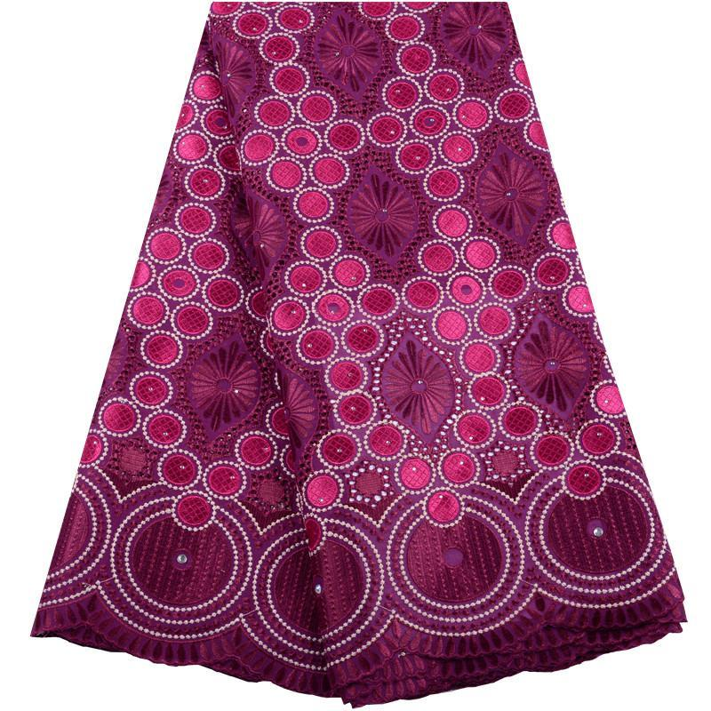 2020 Dernier tissu de dentelle en coton en voile suisse avec pierres africaines de lacets de voile suisse de haute qualité dentelle française pour la robe femme