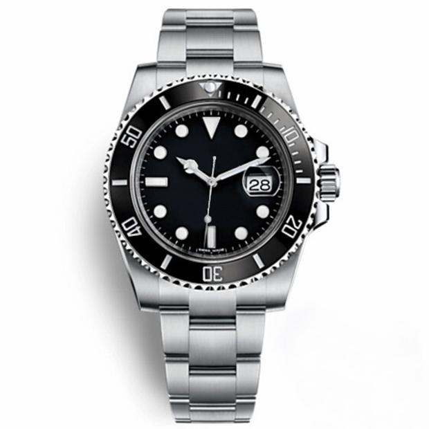 Casual Watch Black 116610 Uomo Sapphire automatico in acciaio inox ceramica in acciaio inossidabile Bezel Orologio da Uomo Mens Orologio da polso Montre Homme Regalo