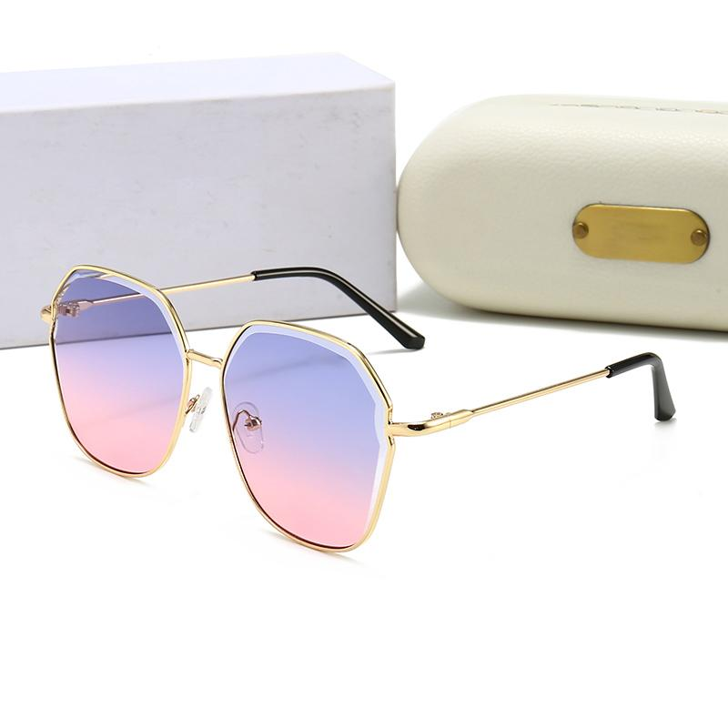 2021 Модный дизайнер Солнцезащитные очки Бренд Очки Очки Открытые оттенки Бамбуковая Форма PC Рамка Классическая Леди Роскошные Солнцезащитные очки для женщин с коробкой