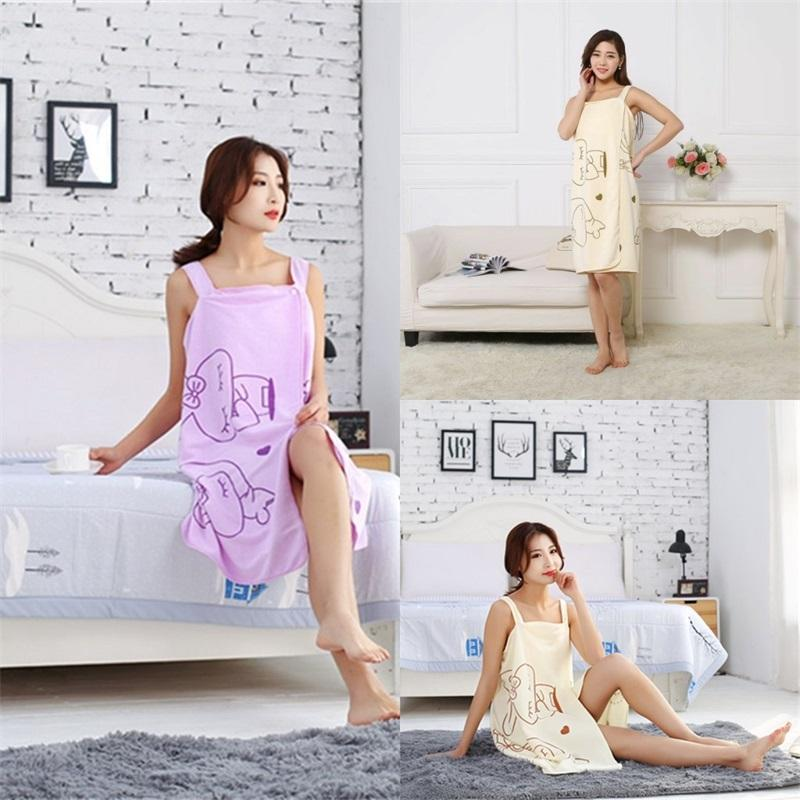 Asciugamano da spiaggia indossabile Rabbit Love Heart Pattern Sling Bath Skirt Snap Button Doccia Robe Valentine Day 4 3JM G2