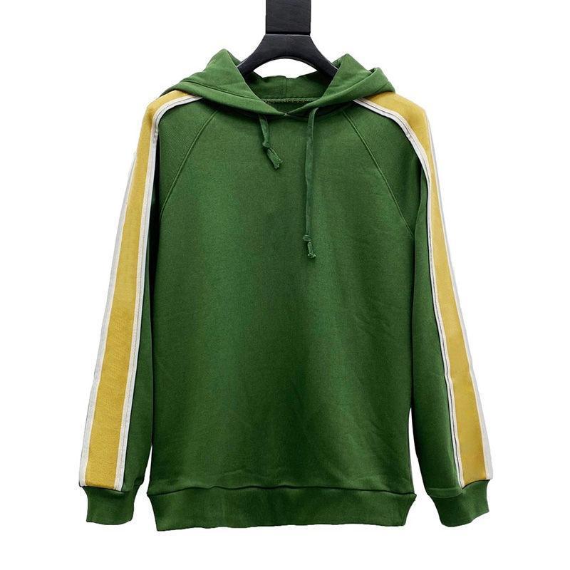 20ss men hoodie топ хлопчатобумажный уютный с длинным рукавом толстовки мода мужские женские осень зима со стороны соращивания светоотражающие капюшон пальто размер xs-l