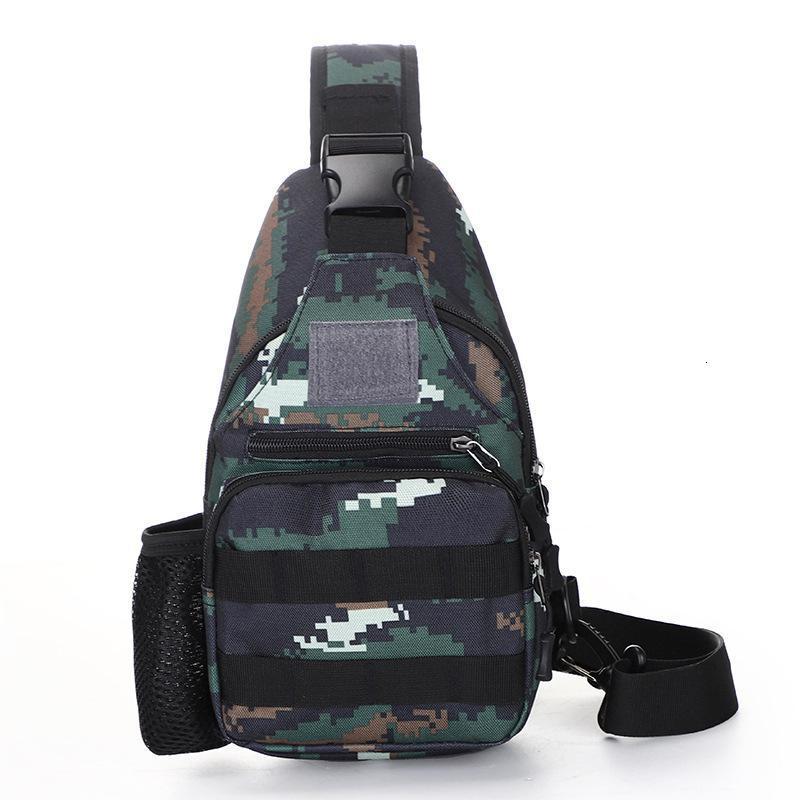 Камуфляж грудной клетки Мужская открытая мультифункциональная водонепроницаемая пластница женская тактическая сумка оксфорд ткань плечо