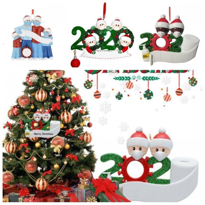 FactoryEffuggift aniversários design de decoração de decoração de quarentena de quarentena casa personalizada família de 4 ornamentos pandêmico w