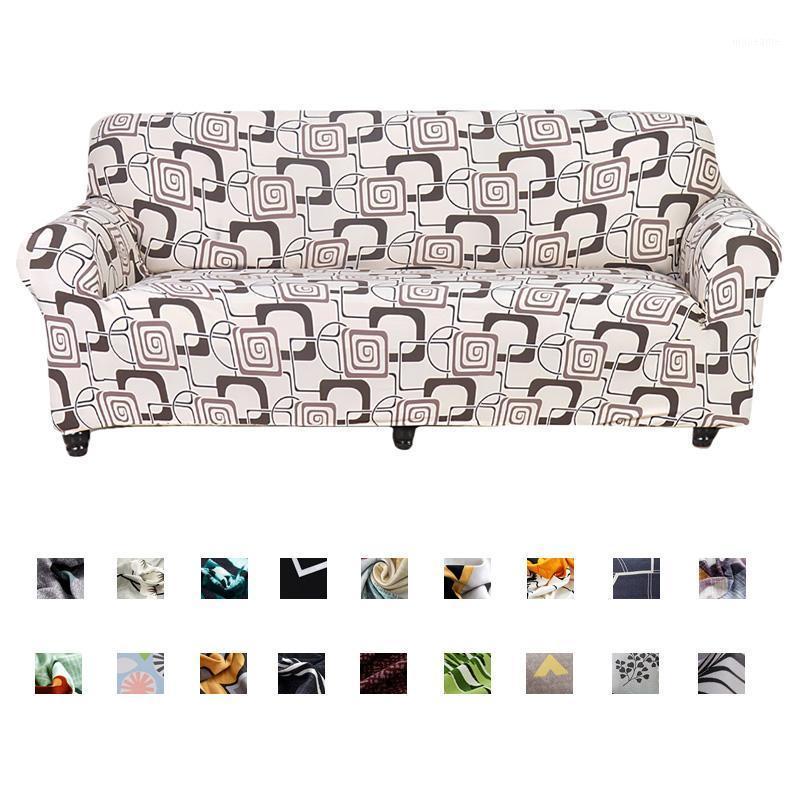 Nordic Style Slipcovers Sofa Cover Baumwolle elastische Sofa-Abdeckung für Wohnzimmer Couch Handtuch Einzel / Zwei / Drei / Viersitze1