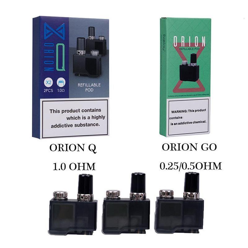 Autêntica perdida Vape Orion DNA Go POD Q Cartucho 2ml substituição Refilleable Pods para o Kit de Starter LostVape Original 100% Genuine