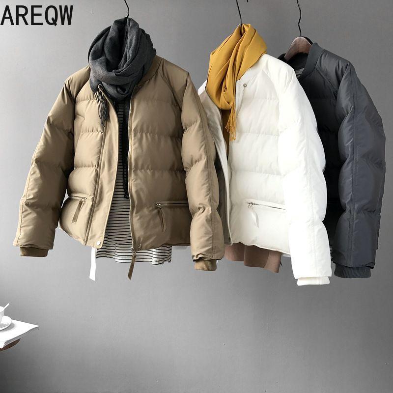 Winter Jacket Women Short Bubble Coat Parkas White Black Woman Clothes Autumn Winter Jackets Womens Outerwear 201211