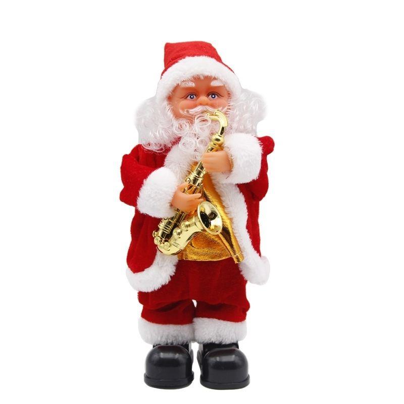 Nuevo 30cm Santa Claus Muñeca Decoración de Navidad eléctrica Juguetes Regalos de Navidad para niños Movimiento animado Santa Claus Danza Dolling 201127