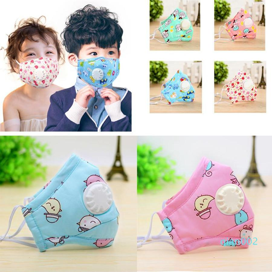 With Face Kids Valve 3D Cartoon Breathable PM 2.5 Filter Mouth Cover Adjustable Dustproof Reusable Outdoor Designer Mask163B