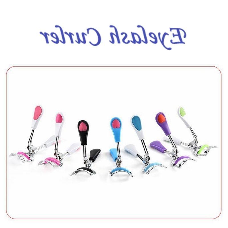 Stainless Steel Curling Eyelash Curler Local Eye lash Curler Heart Colorful Eyelash Clip Makeup Tools Beauty Tool