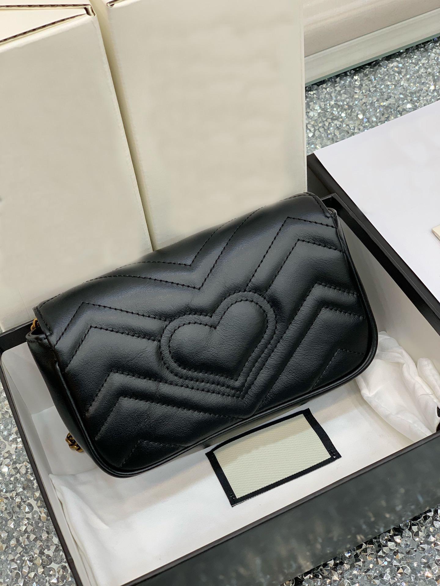 Taschen Neu 476433 Designer Mode Weibliche Luxus 2020 Umhängetasche Womens Handtasche Rhombus Messenger Bag Frauen Doppel G BAG 16.5-10-5 PLHIG
