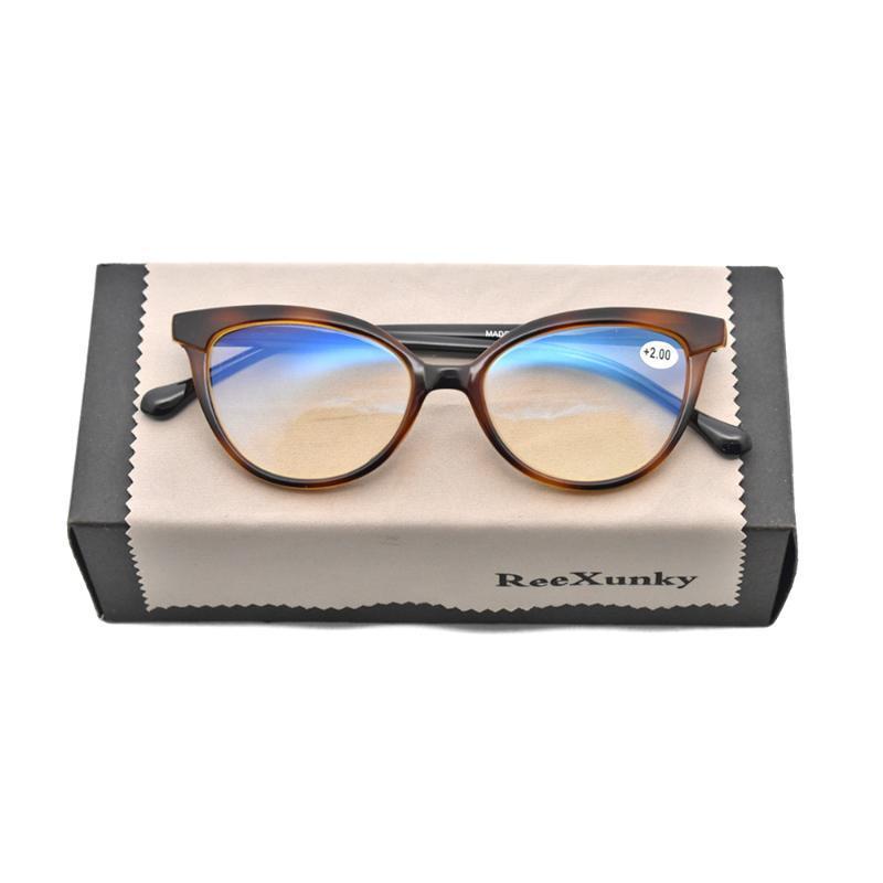 Nuovo Anti +1.0 PresbyPic Cat Eye Reading Blue +3.5 Occhiali vintage da donna +1.5 con diottrie 0 +3.0 per +2,0 +2.5 Eyeglasses Light LFNQP