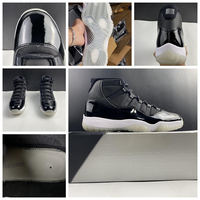 2020 Mens 11 Баскетбольная обувь Черные 11s Женщины Concord Columbia Разводят Space Jam Определяющие моменты Гамма Синий Легенда Окончательный Полет тапки