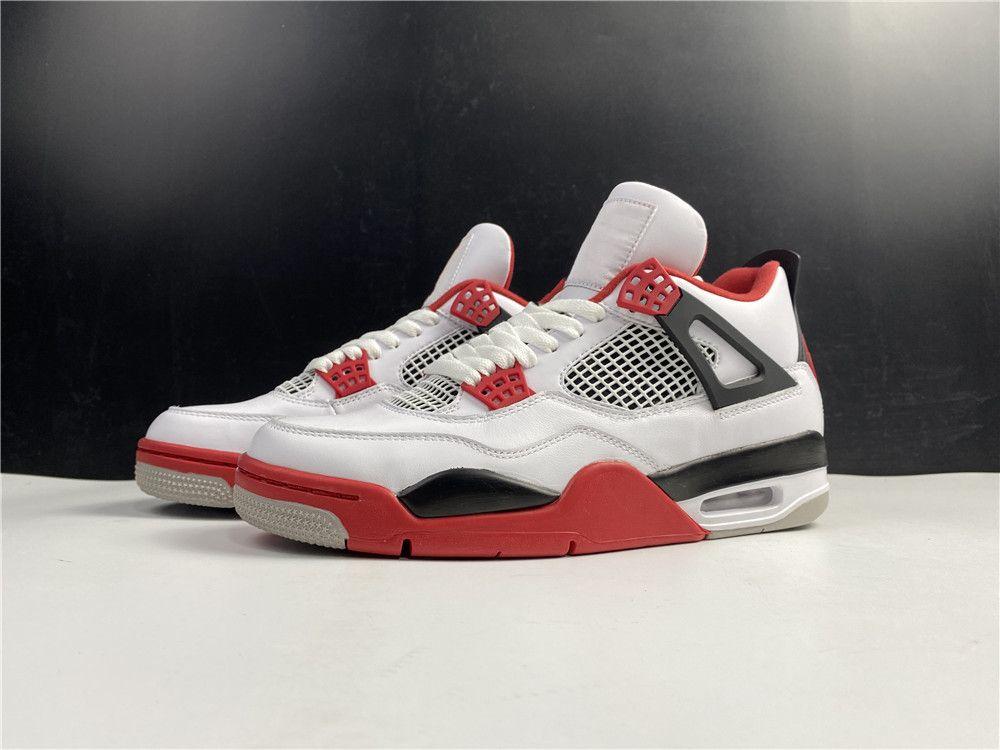 Yeni Erkekler 4 S Basketbol Ayakkabı 4 Yangın Kırmızı Tasarımcı Lüks Eğitmenler Atletik Ayakkabı Spor En Kaliteli Sneakers ile Kutusu
