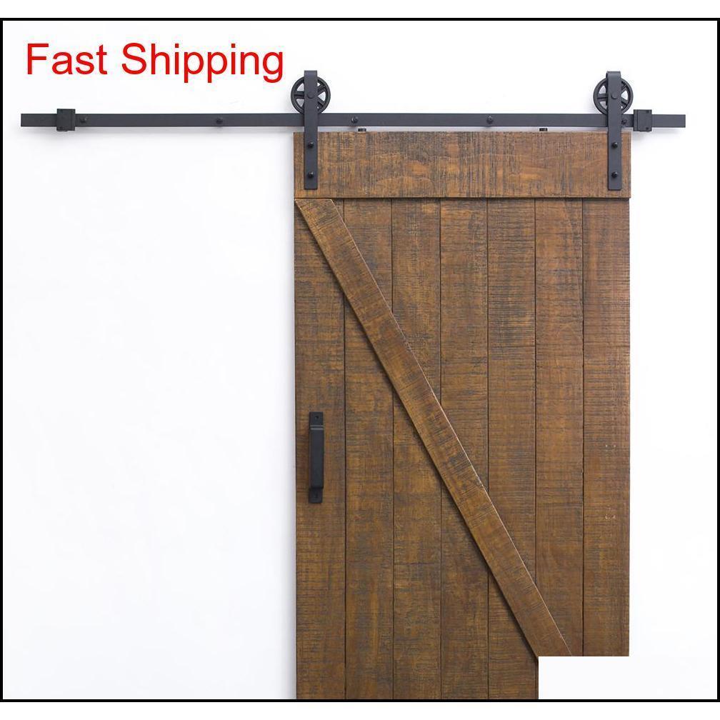 العتيقة كبيرة تكلم عجلات انزلاق الحظيرة الباب الأجهزة 8ft-16ft انزلاق الباب الخشب هاردو Qylyqp packing2010