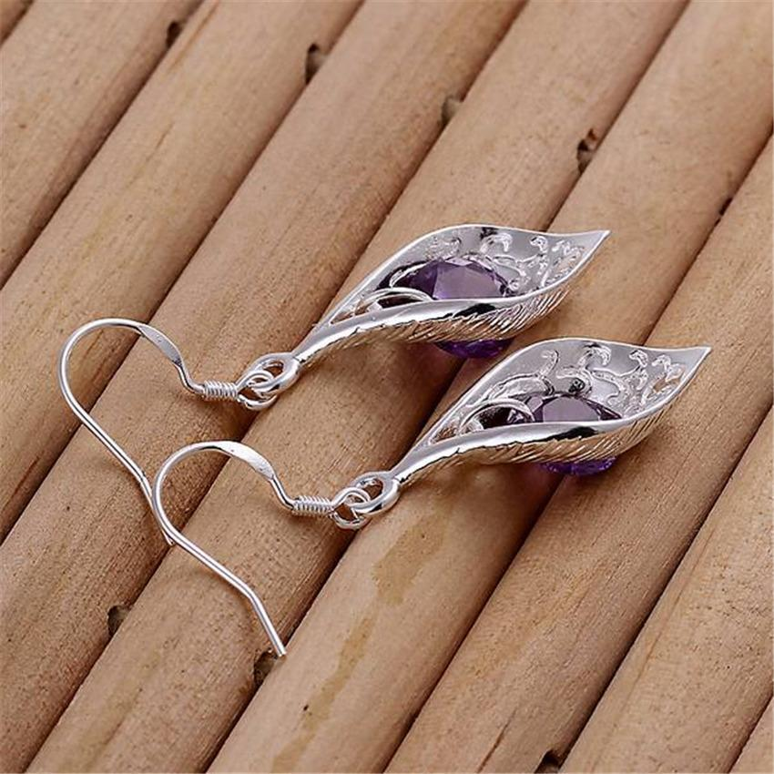 Silver Color Nice Crystal Jewelry Earring Women Lady Wedding Party Cute Nice Earrings Hot Selling Fashion Jewelry E207 H sqcIQq