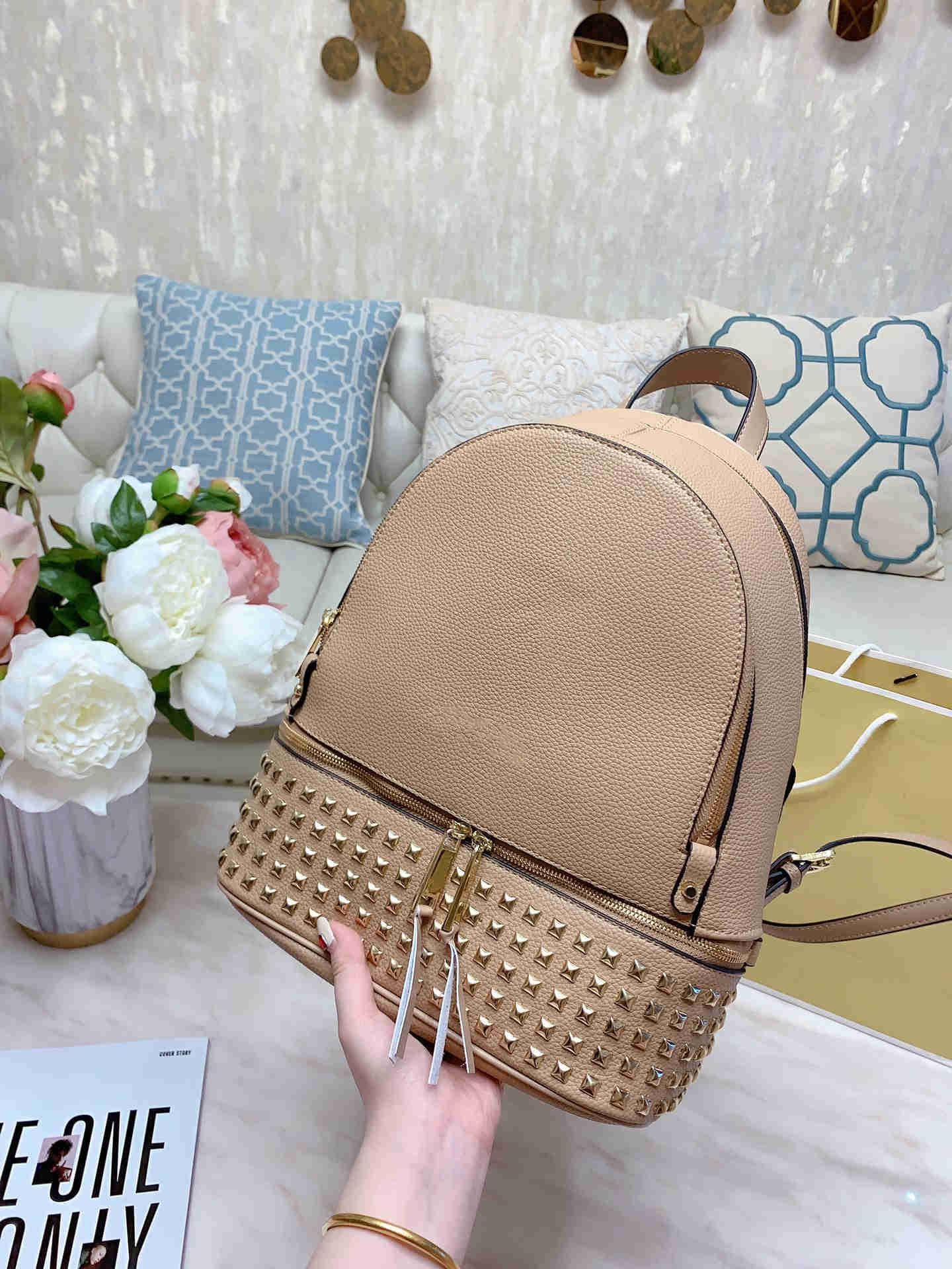 Diseñador-Nueva Moda 2020 Monederos de lujo de las mujeres bolsos de bolsos de alta calidad de costura de dos colores bolsas escolares bolsa de la escuela 33 cm