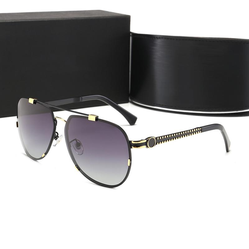 Lüks Erkek Mens Erkekler için Tasarımcılar Kadınlar Güneş Erkekler Gözlük Metal Vintage Moda Stil Kare Çerçeve UV 400 Lens Kılıf