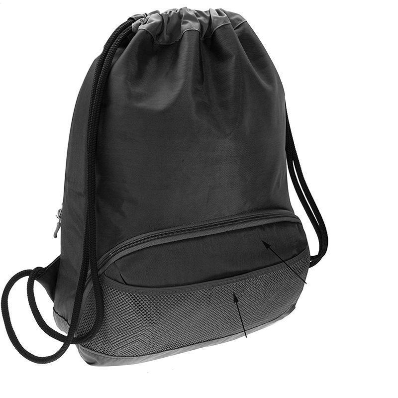 Wasserdichter Top-Rucksack Cinch Kordelzug-Tasche Outdoor-Rucksack-Tasche Sport-Reißverschluss Trennung tragbarer Nylon Mwshb