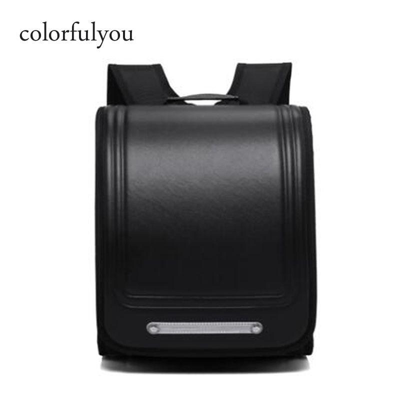 Buntyou Marke 2019 Neue Schultaschen Orthopädische Rucksack für Jungen und Mädchen Wasserdichte PU Randoseru Rucksack Japan Student Bag Y0119