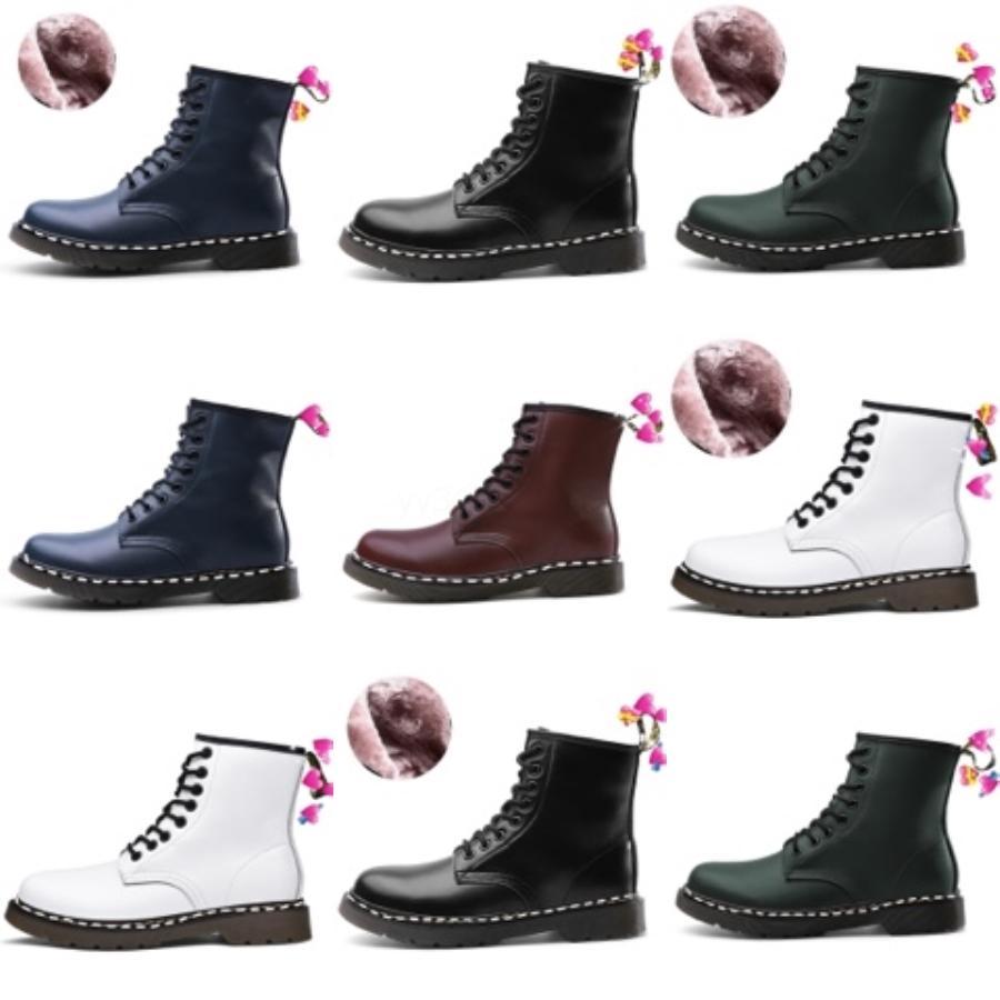 Herbst Winter Frauen Stiefel Black Lace-up Boots Plattform plus Samt Knöchelstiefel Schuhe Frauen # 7893222