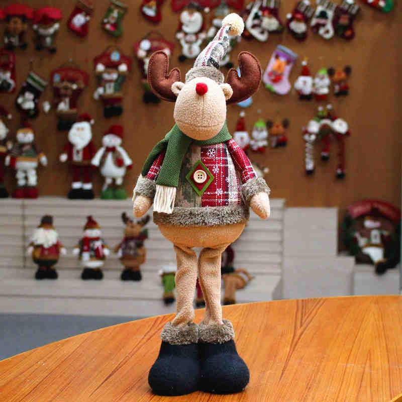 2020 Vente chaude Année de Noël Grand poupées Fenêtre Décorations de Noël Arbre de Noël Ornements Jouets pour enfants Décor Maison Innovative Santa Snowman