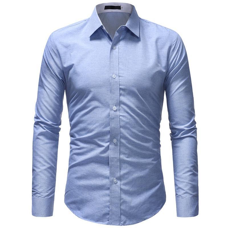 Männer Hemd Camisa Masculina 2020 Frühling Herbst Neue Langarm Baumwolle Kleid Hemd Männliche Formale Geschäftsleute Social Hemden