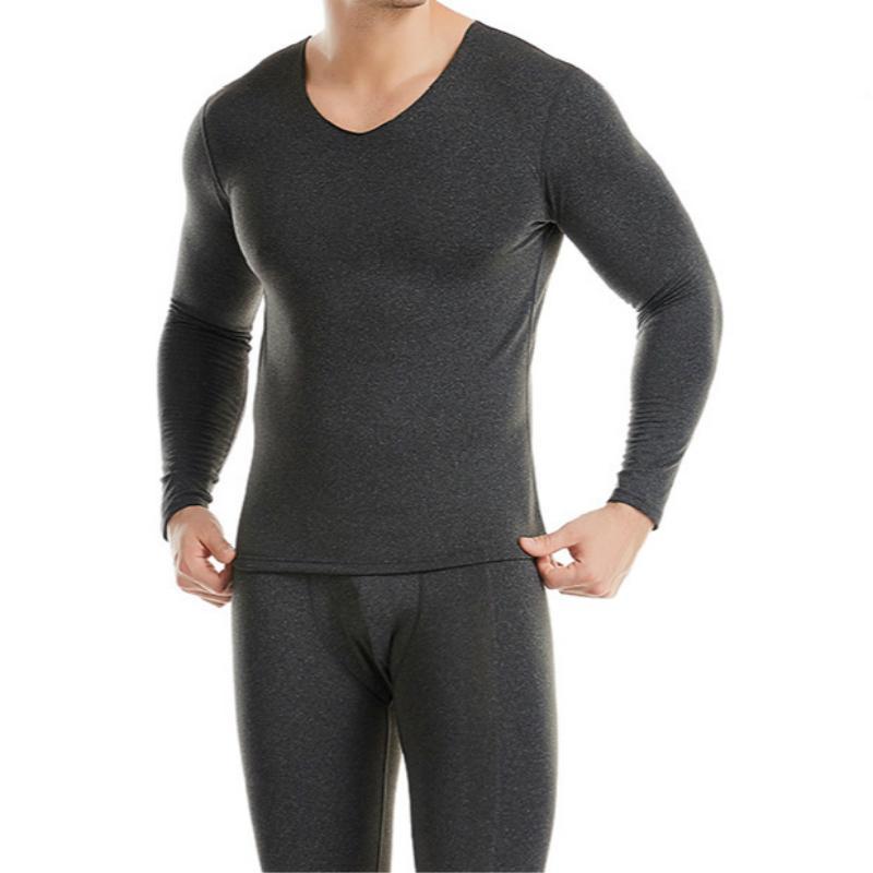 Erkekler Uzun Jhons 5XL Termal İç Çamaşırı Kış Sıcak Giysiler Sorunsuz Tops Buttoms