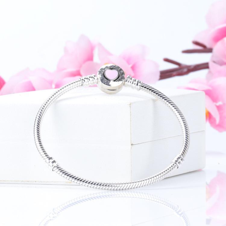 Sterling Heart Enamel pour Pandora S925 Charms Bracelet Silver Bracelet Femmes Bracelet Bracelets Femmes Bijoux 10pcs / Lot peut mélanger