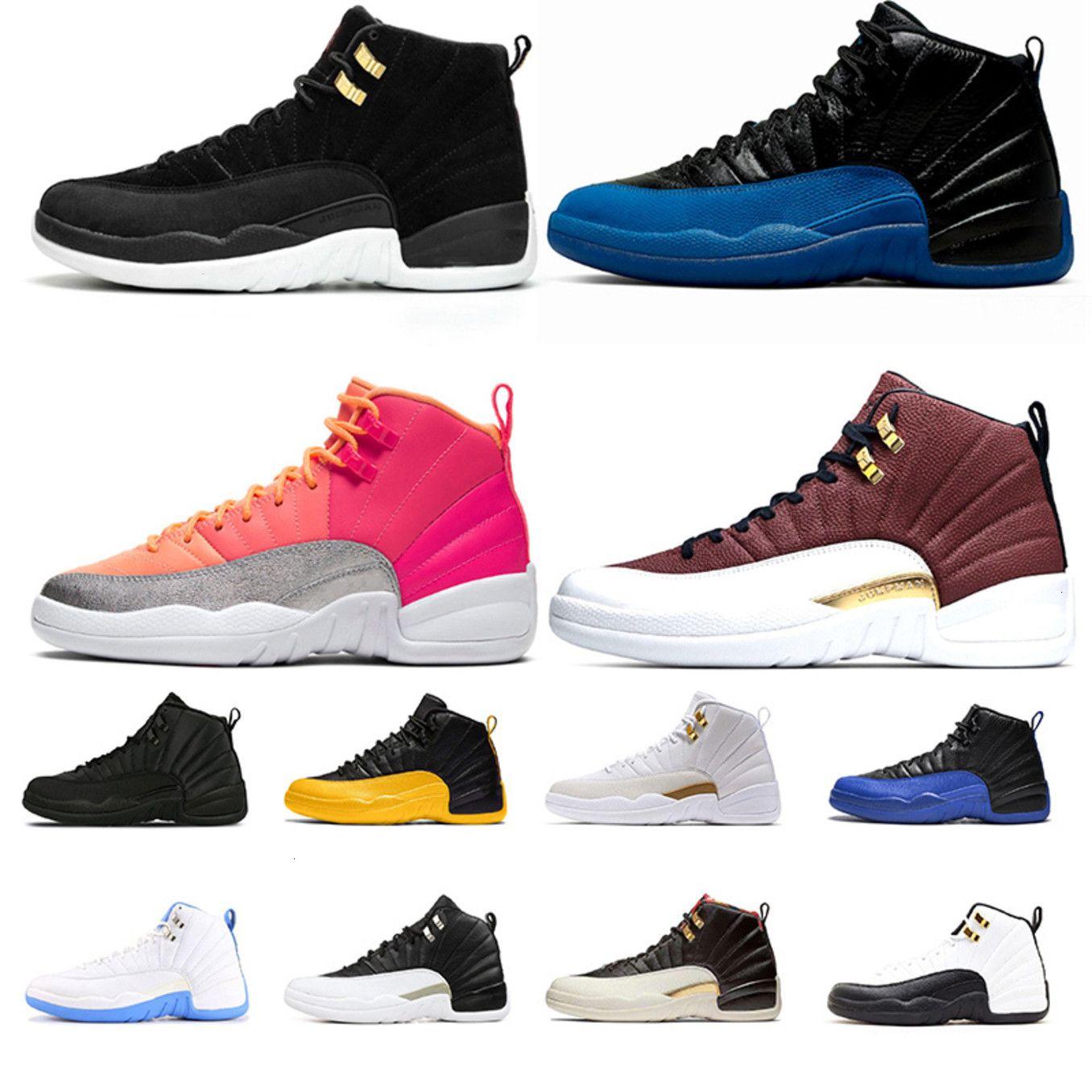 ГОРЯЧЕЙ! 12 Обувь Basetball 12s Hot Punch Reverse Taxi Game Ball Fiba Basetball Shoes 12s Mens Trainers Sports Shoe 8-13