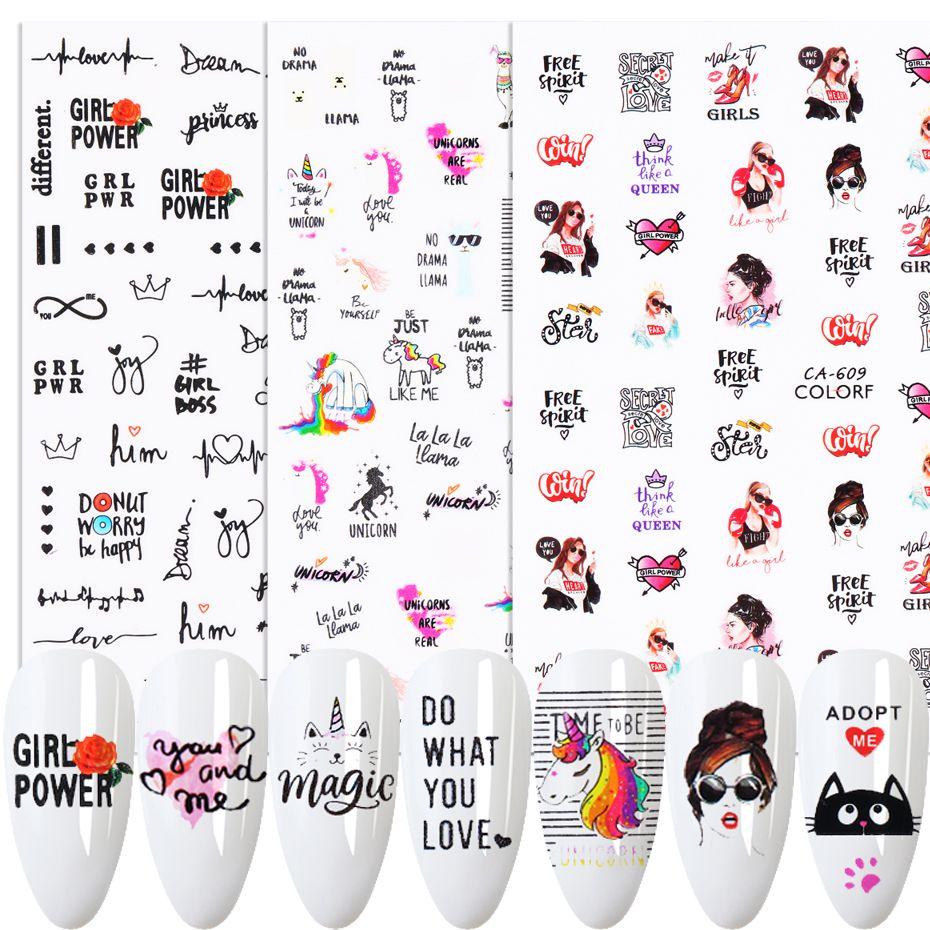 1 adet Güzel Tırnak Çıkartmalar 3D Seksi Kızlar Dudaklar Mektubu Kaydırıcılar DIY Kendinden Yapışkanlı Çıkartmaları Manikür Çivi Dekorasyon İpuçları beca608-653