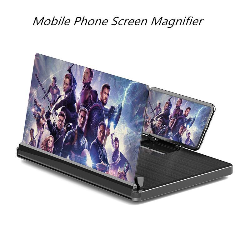 10/12 pollici Mobile Phone Scherm Legger Bracket 3D HD Telefono cellulare Amplificatore video Smartphone universale Smartphone con supporto pieghevole