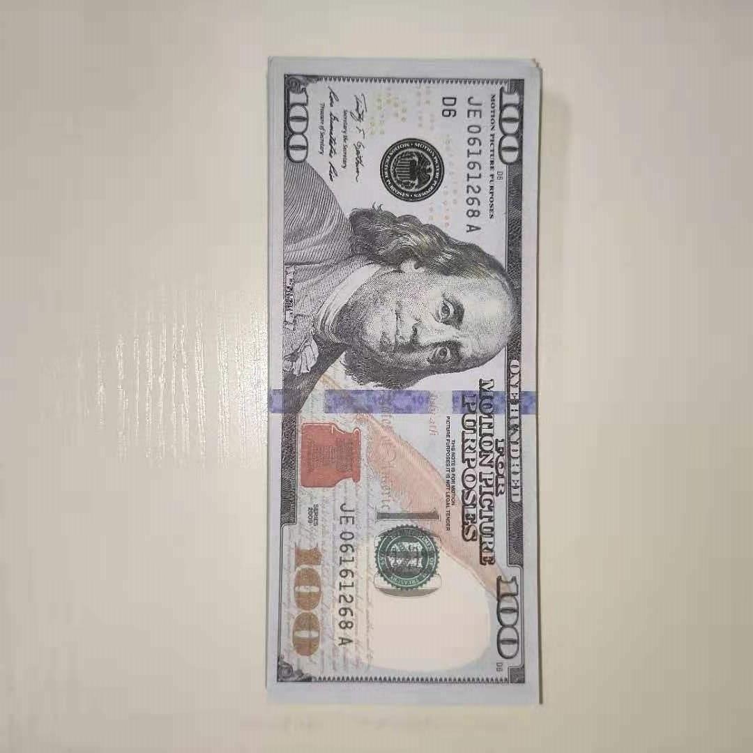 Falso Atmosfera Dinheiro Dinheiro Bar Notas 100 Dólares Realista Nightclub Dinheiro Cópia Papel Dinheiro-4 Cópia USD Atacado Gun Khfbj