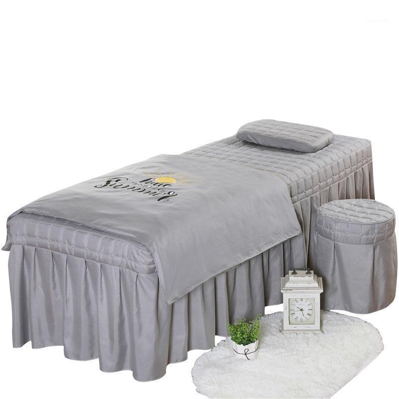 جودة عالية تجميل صالون الفراش مجموعة سميكة بياضات السرير أوراق السرير التبخير تدليك سبا وسادة حاف الغطاء مجموعات 1