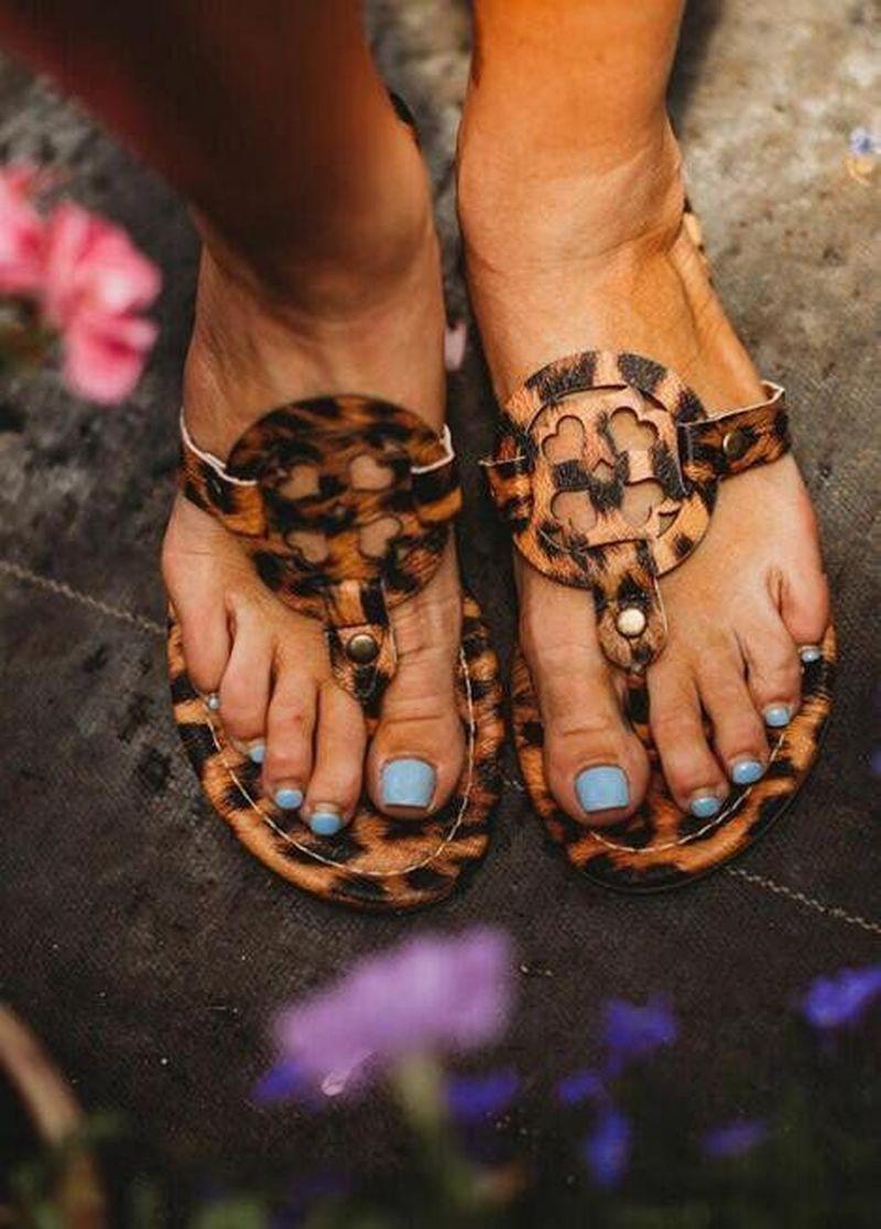 2021 Sandalias Mujeres Leopardo Diapositivas Womans Retro Gladiador Zipper Sandalias Flip-Flop Sandalias Ladies Plus Tamaños Leopardo Extra Bohemia Caliente