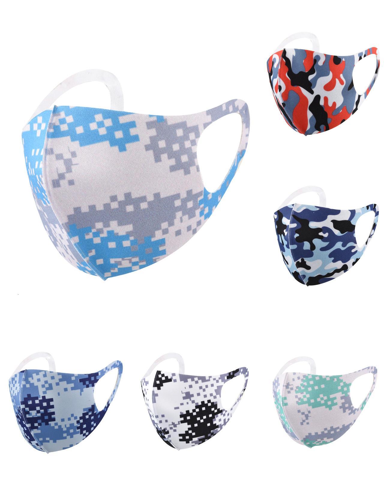 Máscaras de cara Cubierta de cara Camuflaje Anti polvo Leopardo Cara de cara PM2.5 Mask Respirator Lavable Reutilizable