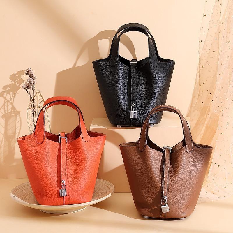 Корова кожаные сумки на ремнях женские женские ведро для женской дизайнерской сумки сумка мода подлинная женская сумка кожаная сумка winkp