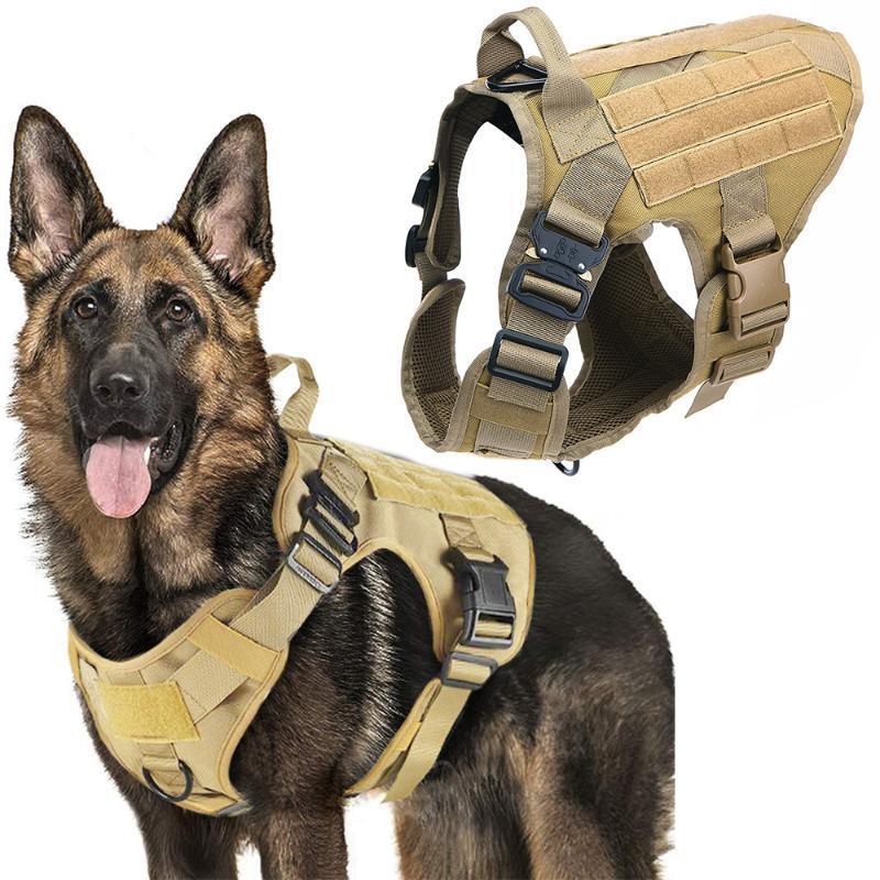 Harnais de chien tactique Harnais pour animaux de compagnie chasse chien gilet chiens métal chiens harnais allemand petit avec boucle de berger grande pour