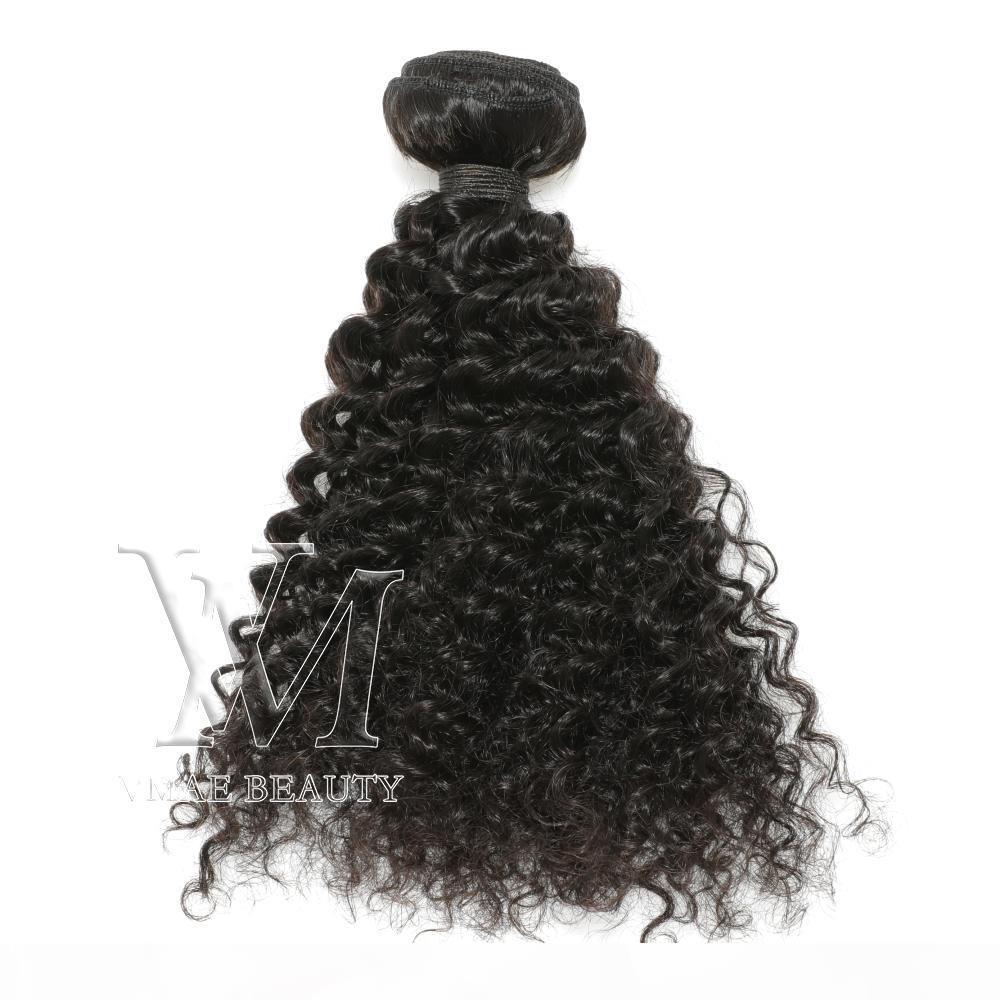 VMAE Malaysian Remy Jungfrau Haar 3 Bündel 3b Lockig Weiche Schuss Natürliche Schwarz Afro Kinky Curly Unverarbeitete Menschenhaar webt Erweiterungen