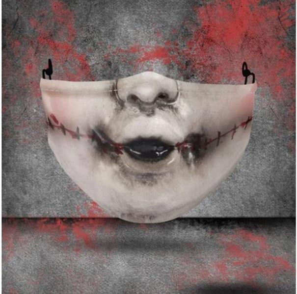 Cosplay Design Masken Masken Halloween Waschbare Partei Joker Gesichtsmaske Digitaldruckmaske Halloween-Skull Schutz Baumwolle Lk