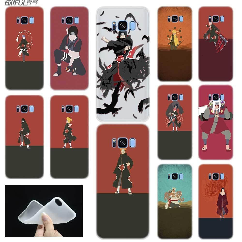 Naruto Animation TPU Custodia morbida Minimalista, Samsung Galaxy S7 S6 Edge S8 S9 S10 S11 S20 E Nota 8 9 10 Plus Case