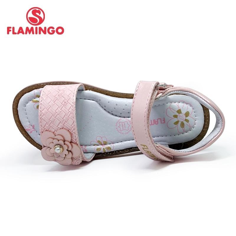 Flamingo Brand Cut-outdens Лето HookLoop Повседневная Сандалии Кожа Стельки Стельки Открытый Маленькая Обувь Квартира 201с-HL-1734 Y200619