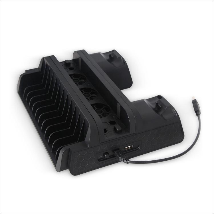 PS4 / ضئيلة / برو متعدد الوظائف برودة الوسادة ps4 قاعدة تبريد مروحة لوحة شاحن مزدوج TP4-882
