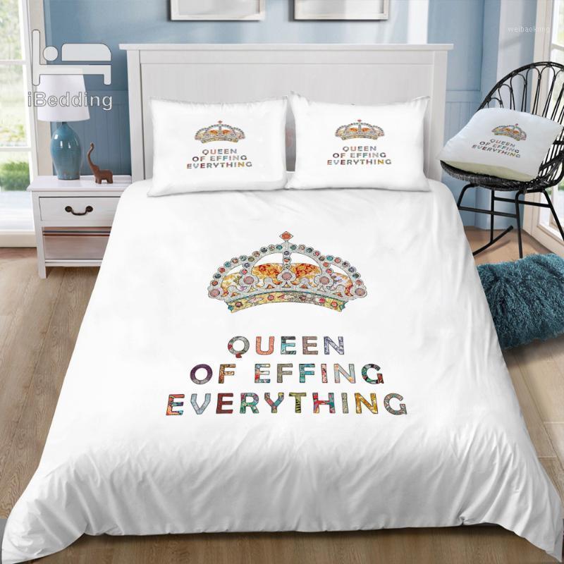 Su motivación diaria 3D juego de ropa de cama impreso edredón conjuntivo reina king gemelo tamaño1