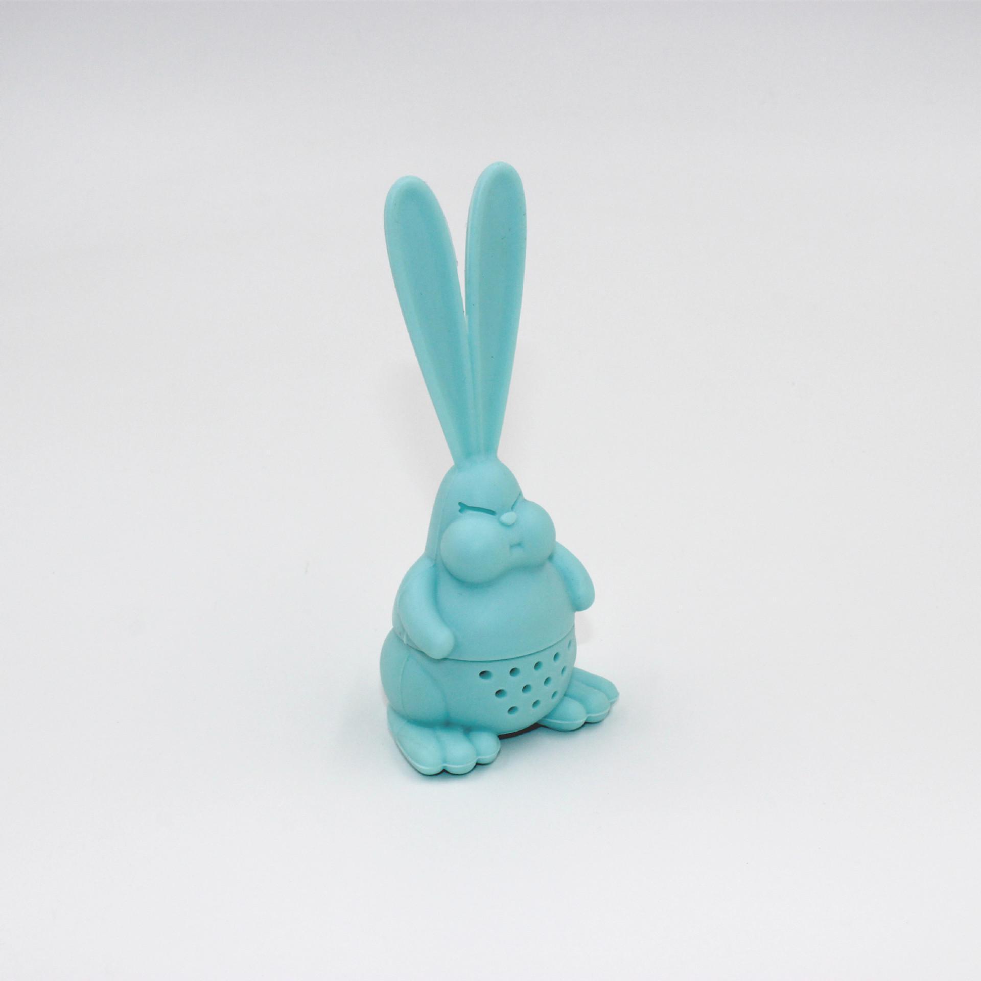 الكرتون غاضب أرنب شاي infuser الغذاء الصف سيليكون أرنب الشاي مصفاة كبيرة الأذن أرنب الشاي حقيبة FWA2536