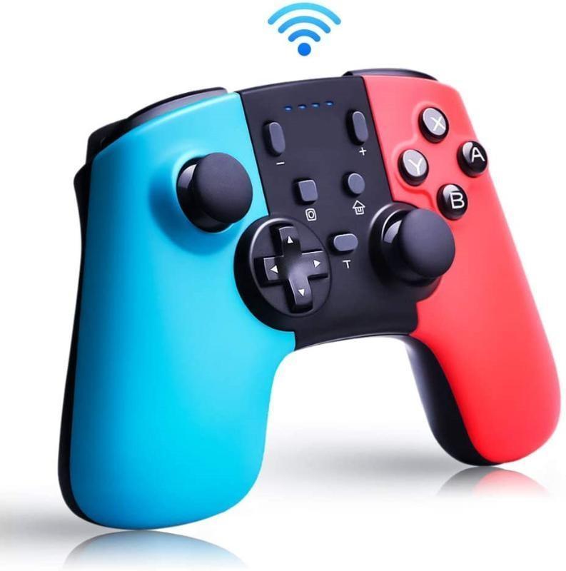 Für den weichen drahtlosen Bluetooth-Spiel Controller 6-Achsen-Dual-Vibration Turbo Gamepad Joystick für Schaltkonsole